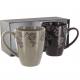 Coffret Sheila 2 mugs porcelaine et fleurs