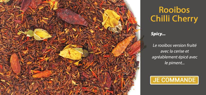 Spicy... Le rooibos version fruité avec la cerise et agréablement épicé avec le piment...