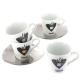 4 tasses Espresso Nice Coffee