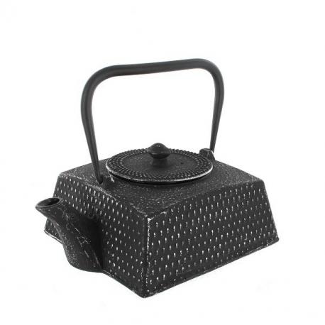 Théière en fonte carré arare 0.75l noir